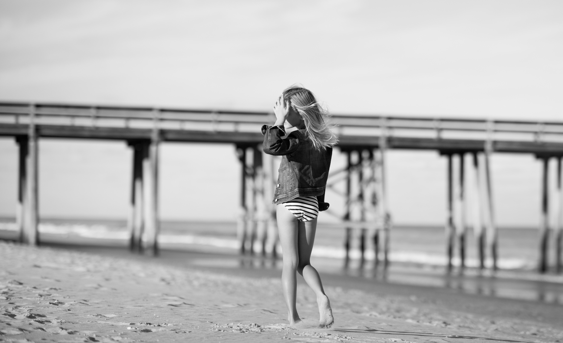 Young-Girl-In-Motion-On-Beach